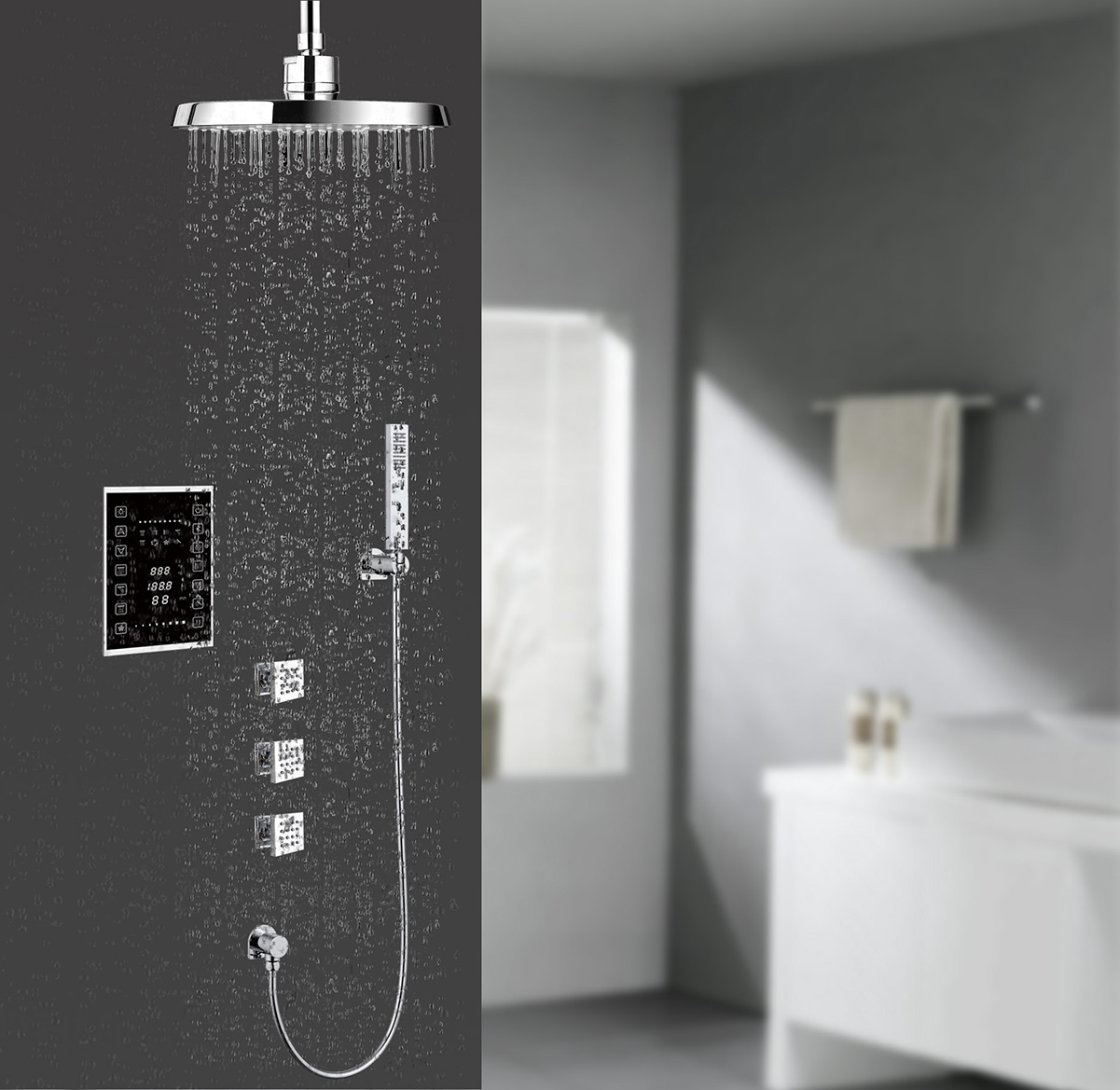 Model No.: H306 Thermostat  Shower  Controller(6water outlets)